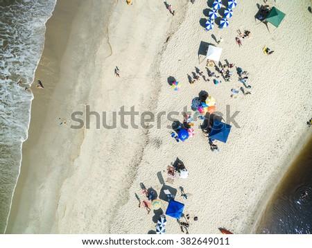 Top View of Barra do Una, Brazil - stock photo