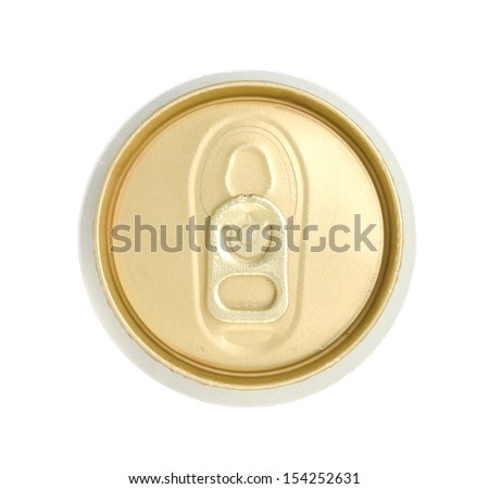 Top view of beer can . - stock photo