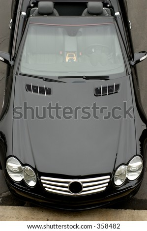 Top view of cabriolet MB coupe. - stock photo