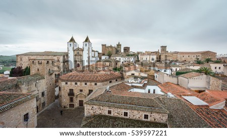 Top view of Caceres downtown