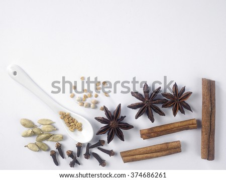 top view of coriander powder - stock photo