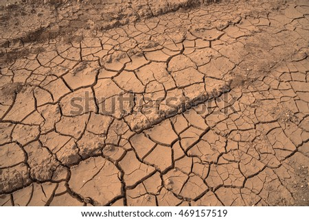 Cracked clay ground into dry season stock photo 69489166 top view of dried ground covered with cracks natural dry soil texture brown drought sciox Images