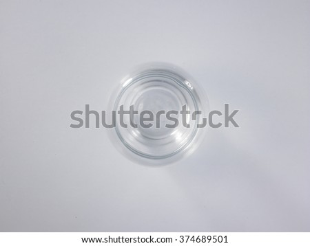 top view of empty glass container - stock photo