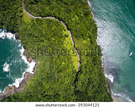 Top View of Exotic Hill in Brazil - stock photo