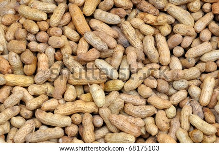 top view of heap of peanuts