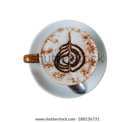 Top view of Hot Chocolate in cafe. - stock photo