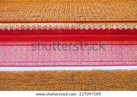 Top view of kanok roof as texture - stock photo