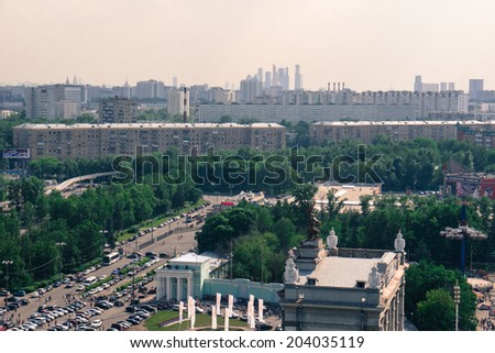 top view of Moscow