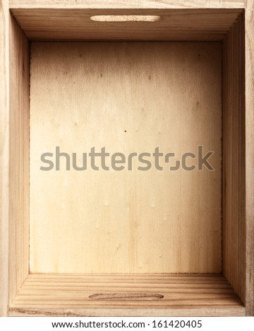 Top view of old wooden box - stock photo