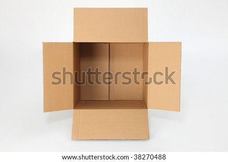 top view of open  empty box - stock photo