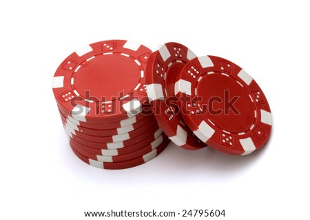 Top view of Poker Chips