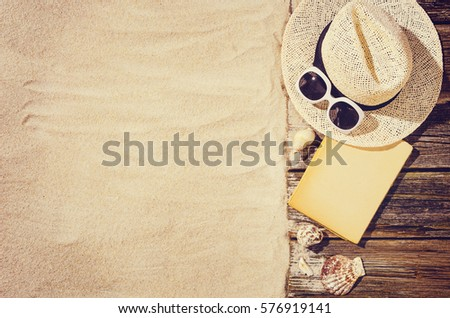 Top View Sandy Beach Frame Background Stock Photo & Image (Royalty ...