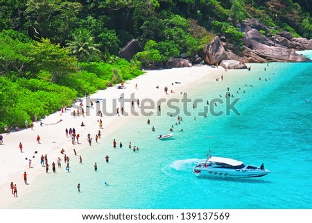 Top view of Similan island. Thailand - stock photo