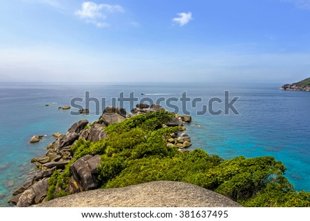 Top view of Similan island Thailand