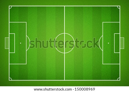 Top view of soccer field - stock photo