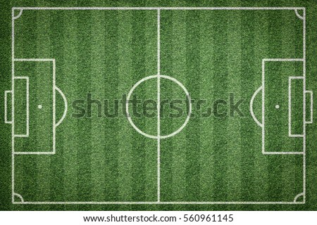 top view of soccer field, football field