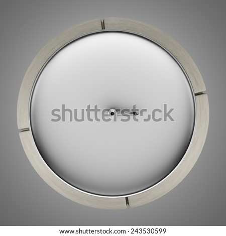 top view of street drinking fountain isolated on gray background