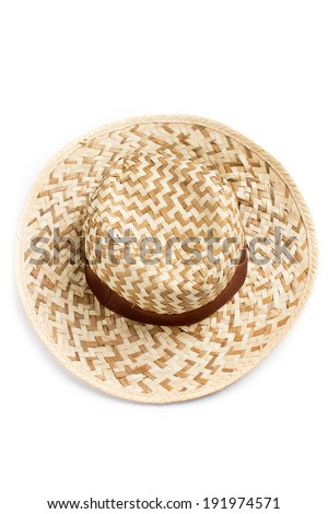 Top view of sun hat