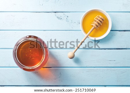 top view of sweet honey  - stock photo