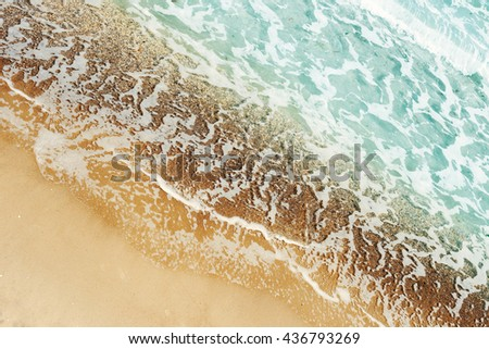 Top view of the beach - stock photo