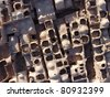 Top view of the castle clay - stock photo