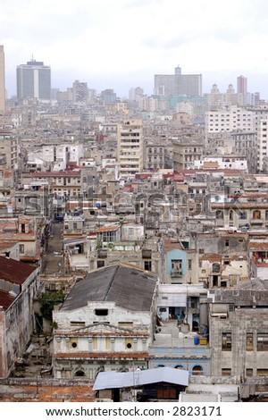 top view of the city of Havana - stock photo
