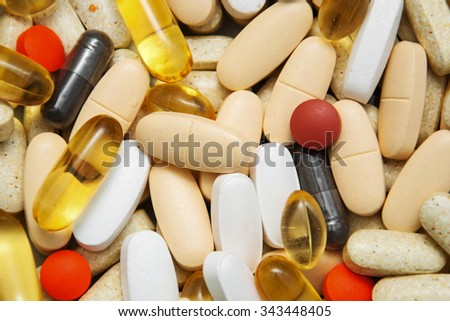 top view of the pills - background - stock photo