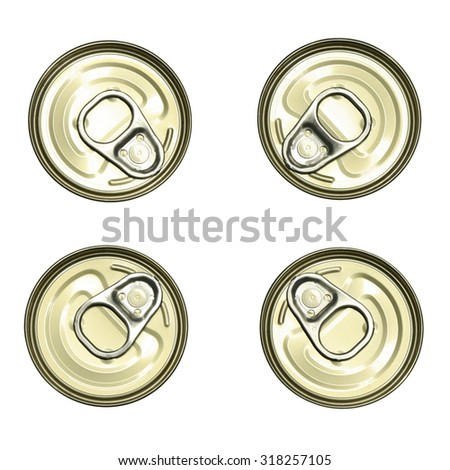 top view of tin can - stock photo