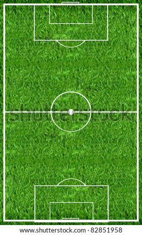 Top view on the football field - stock photo