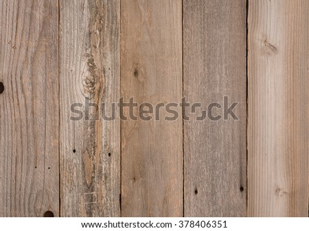 Top View Photo of vertical Naturally Aged, Rough textured Rustic Brown Cedar Wood Boards as Background or Template with Blank Room or Space for your Design, Words, Text or Copy.  Horizontal rectangle - stock photo