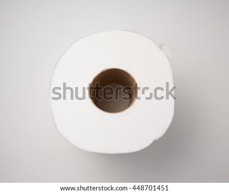 top view roll of toilet paper
