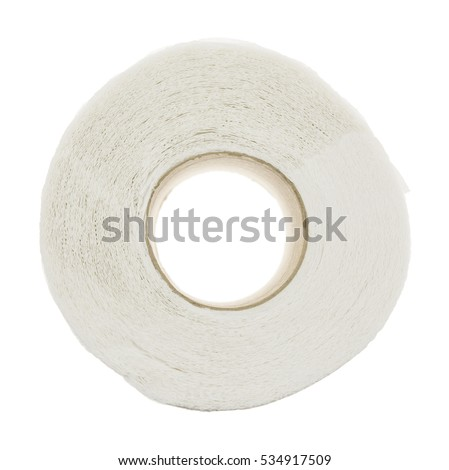Top view roll of toilet paper (Clipping Paths Included)