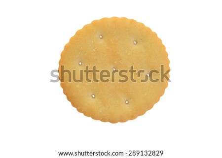 top view small round cracker - stock photo