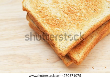 top view toast - stock photo