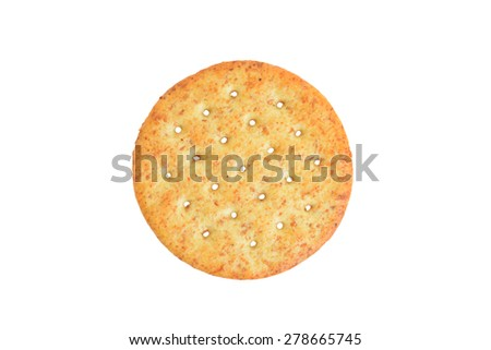 top view wheat cracker