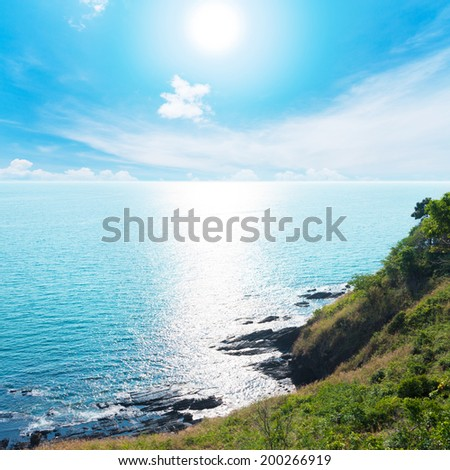 Top views at the cliffs of Ba Kantieng Bay - Lanta Island - Krabi - Thailand. - stock photo