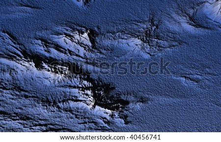 Topographical map of the ocean with color differences - stock photo
