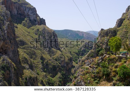 Topolia Gorge on Crete - Greece - stock photo