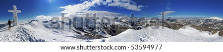 topped the Italian Alps - stock photo