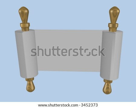 Torah Scroll - 3D Render - stock photo