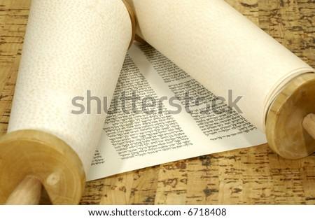 Torah Scroll - Judaica Related - Jewish - stock photo