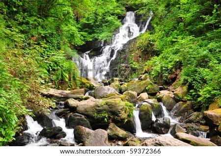 Torc waterfall, Kerry, Ireland - stock photo