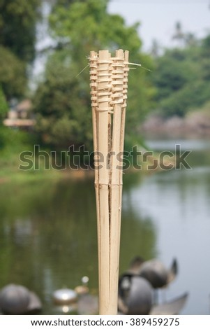 Torch.  bamboo tube