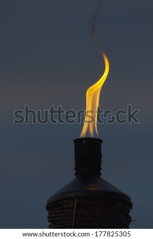 torch in the religious ceremony of a vigil