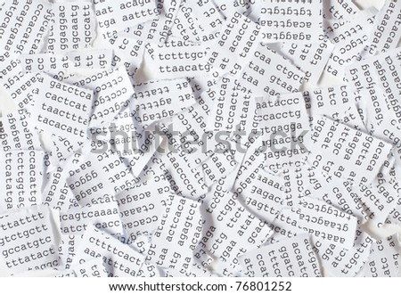 Tore DNA sequence - stock photo
