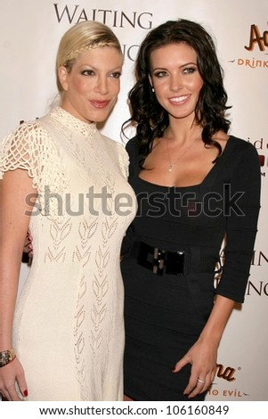 Tori Spelling and Audrina Patridge   at the Los Angeles Premiere of 'Waiting In Beijing'. Fine Arts Theatre, Beverly Hills, CA. 12-10-08