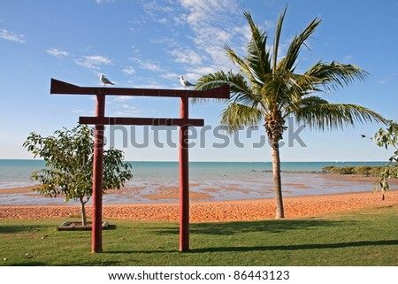 Torii at Town Beach, Broome, Australia - stock photo