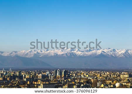 Torino, Turin, Skylin, Europe, Roofs, Medieval, Assasin, Italy, Alpine, Mountains