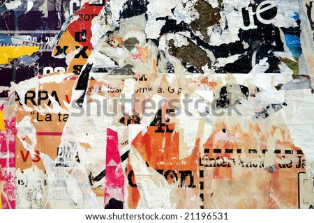 Torn Advertisement Background - stock photo