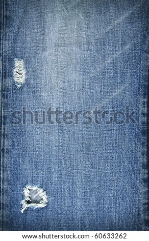 torn blue jeans pattern - stock photo